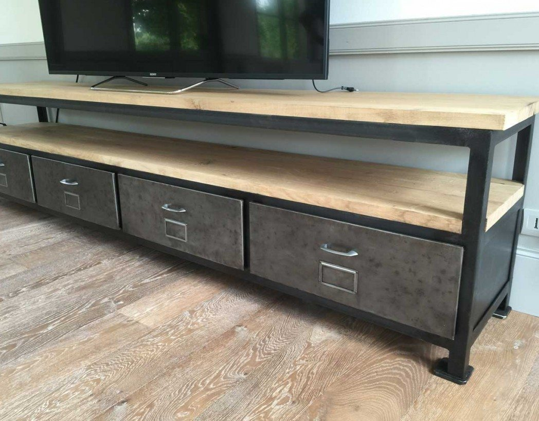 Meuble tv industriel xxl cr ation - Meuble tv industriel occasion ...