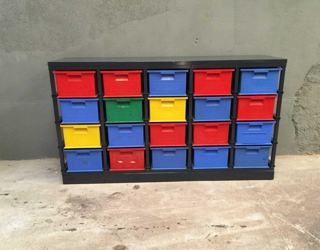Super Atypique meuble de rangement d'atelier FOUMI des années 80/90 RN32