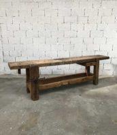 ancien etabli menuisier 262cm chene meuble de metier 5francs 1 172x198 - Ancien grand établi de menuisier en chêne massif
