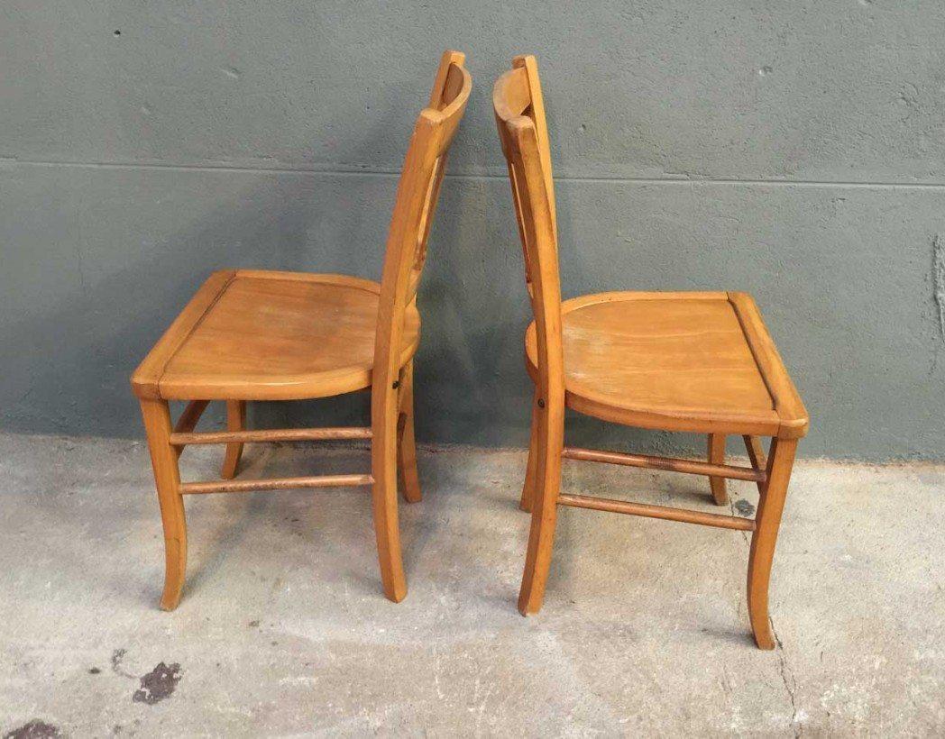 Ensemble de 8 chaises bistrot style baumann - Chaise bistrot ancienne baumann ...
