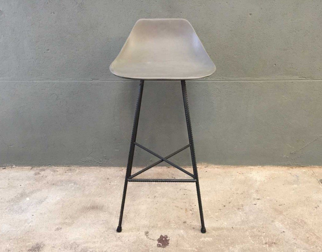 Chaise Haute Bar Beton Design Industrielle 5francs 2