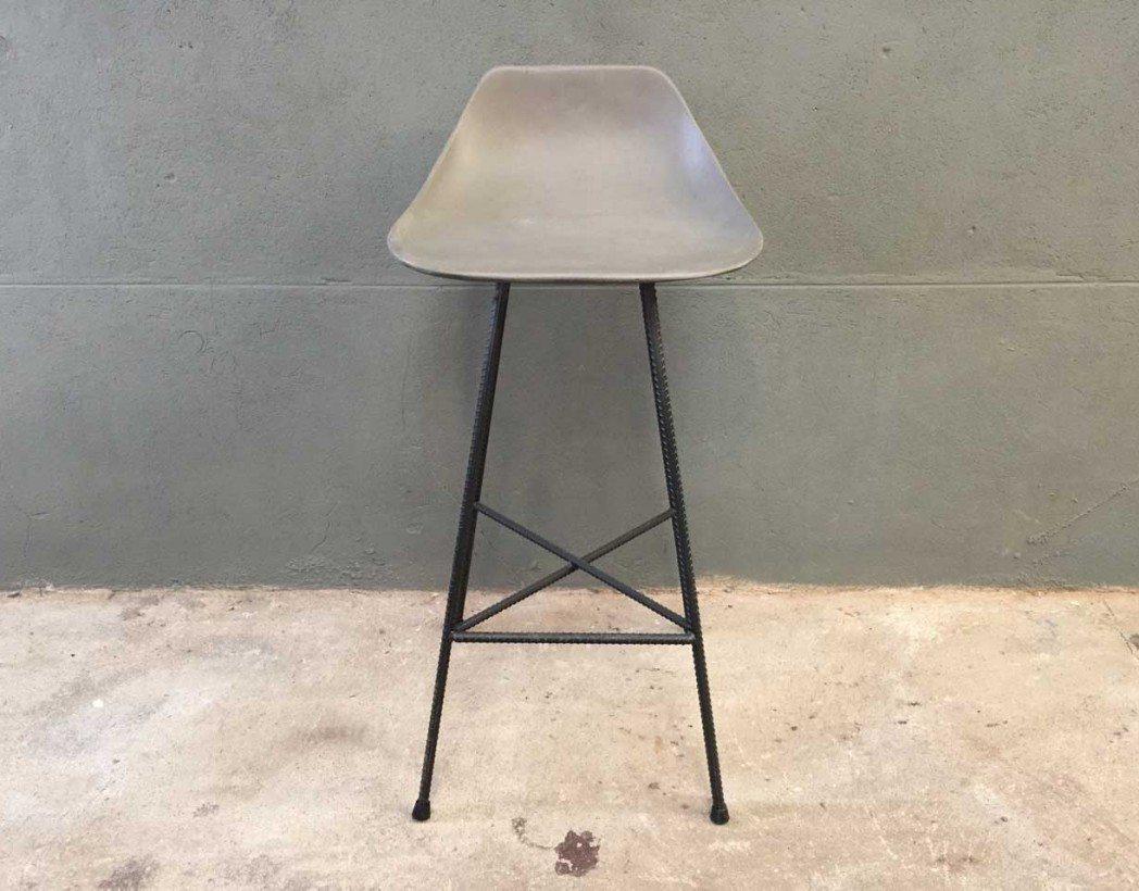 Tabouret de bar haut en b ton - Prix m3 beton fait main ...