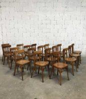 lot 20 chaises baumann bistrot bar ancienne bois 5francs 1 172x198 - Ensemble de 20 chaises bistrot Baumann couleur miel