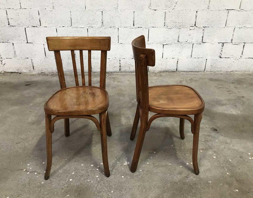 Ensemble de 20 chaises bistrot baumann couleur miel for Chaise bistrot baumann prix