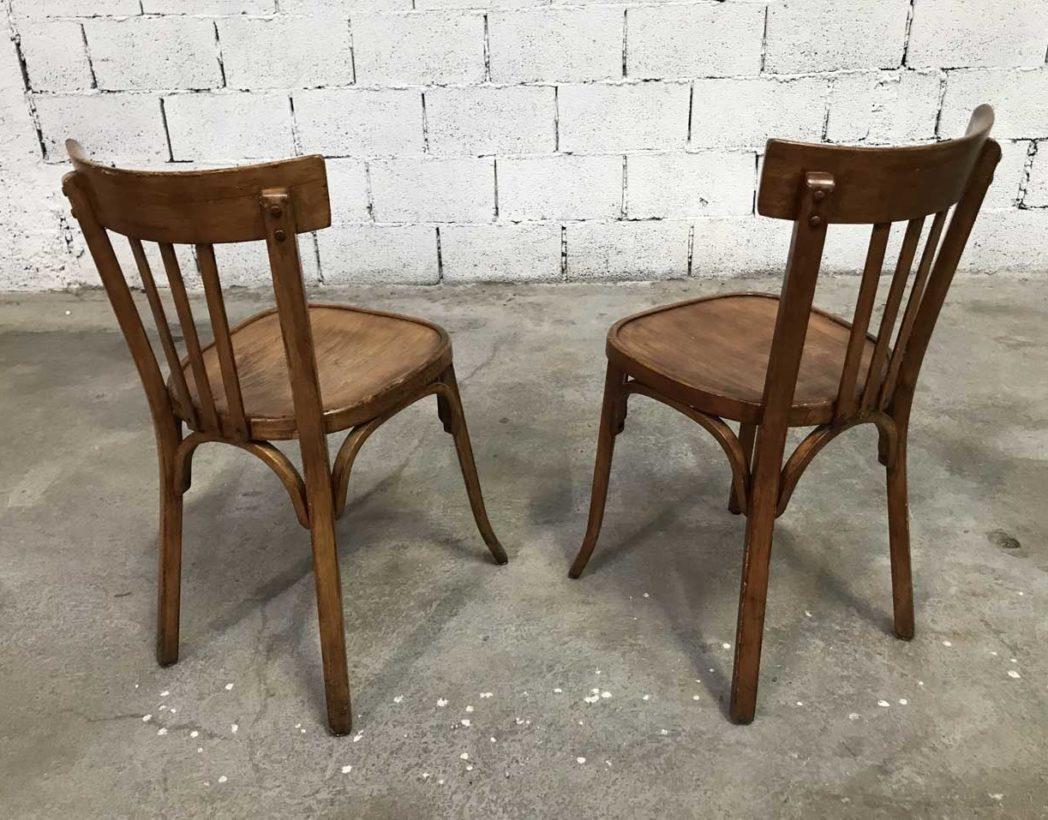 Ensemble de 20 chaises bistrot baumann couleur miel - Chaise bistrot ancienne baumann ...