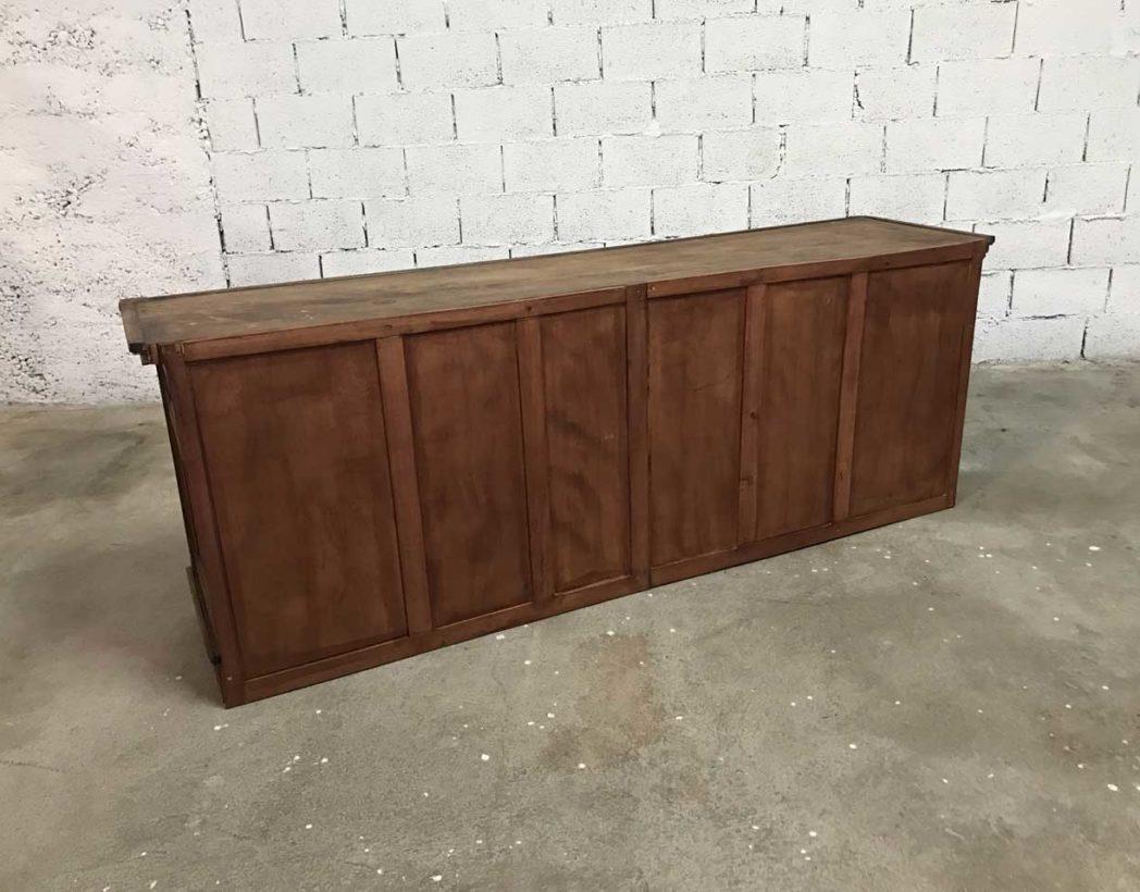 ancien meuble de m tier en acajou 12 tiroirs. Black Bedroom Furniture Sets. Home Design Ideas