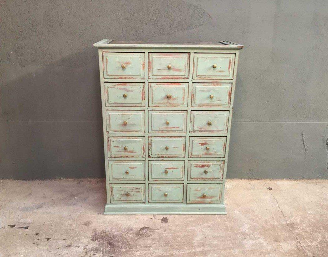 Ancien grainetier 24 tiroirs for Meuble a tiroir ancien