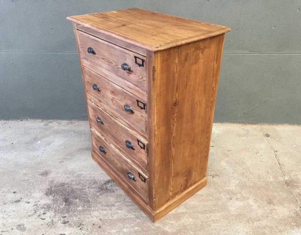 Petit meuble de m tier 4 tiroirs for Meuble a tiroir ancien