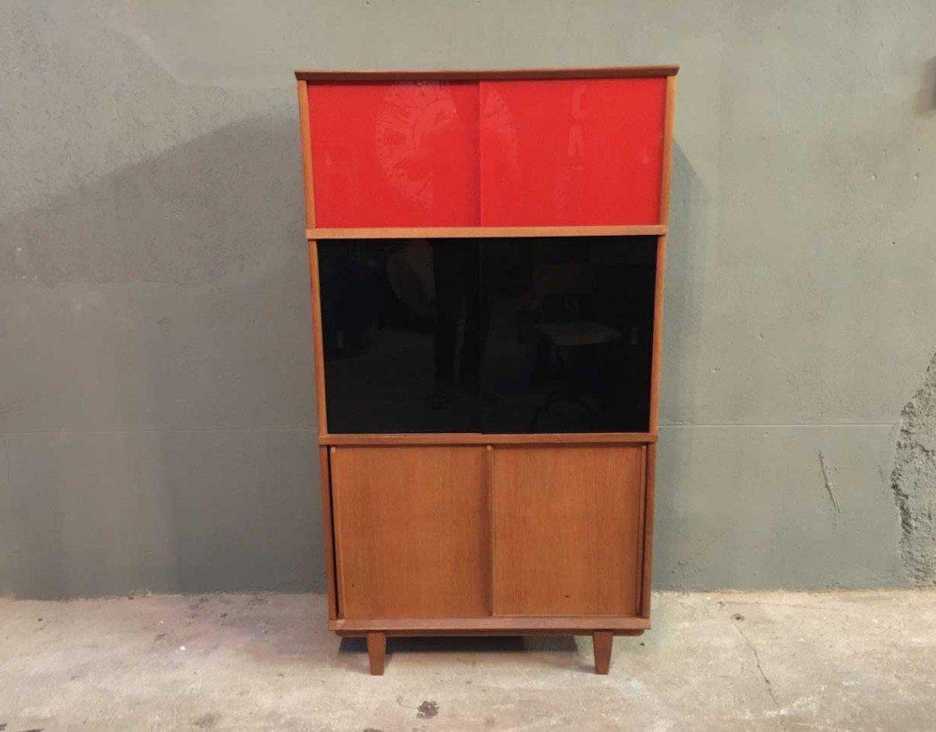 rangement biblioth que oscar ann es 50. Black Bedroom Furniture Sets. Home Design Ideas