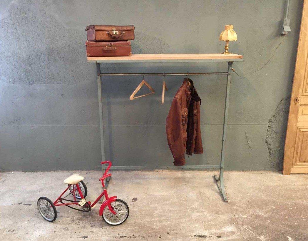 Ancien portant vintage de magasin - Magasin deco vintage ...