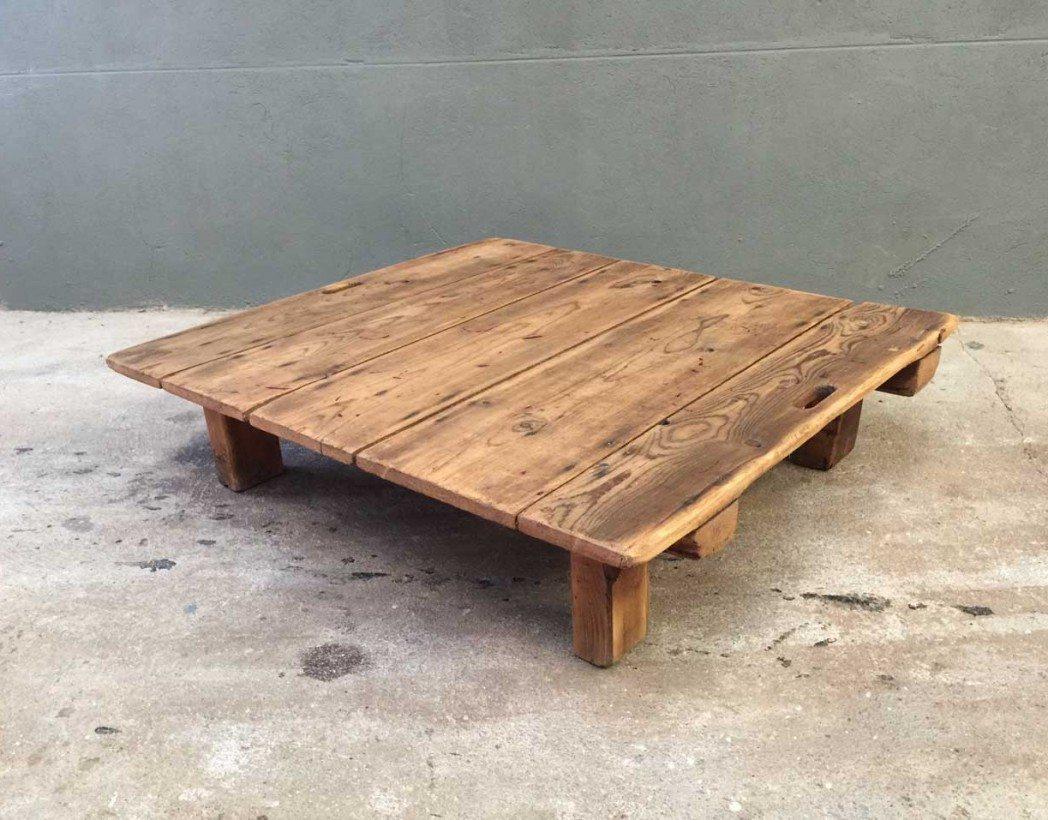 Table basse ancienne palette en bois - Table basse palette bois ...
