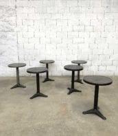 table gueridon tolix vintage xavier pauchard 5francs 2 1 172x198 - Table de bistrot guéridon Tolix PAuchard métal décapée
