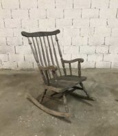 ancien rockingchair baumann patine grise vintage 5francs 1 172x198 - Ancien rockingchair adulte en bois patine grisé
