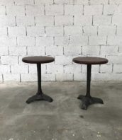 ancienne paire gueridon bistrot paris fonte bakelite 5francs 1 172x198 - Paire de tables bistrot Parisiennes guéridon plateau bakélite