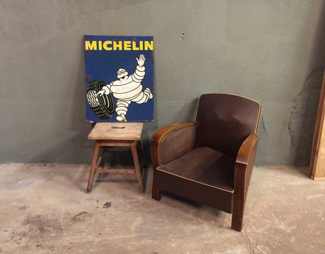 ancienne-plaque-michelin-emaillee-double-face-vintage-garage-5francs-6