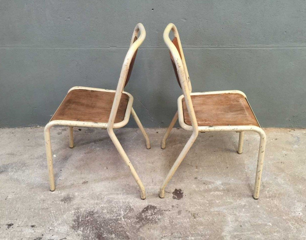 Ensemble de 6 chaises cole tolix - Chaise tolix vintage ...
