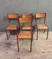 ensemble-4-chaises-ecole-vintage-rouge-mullca-5francs-1