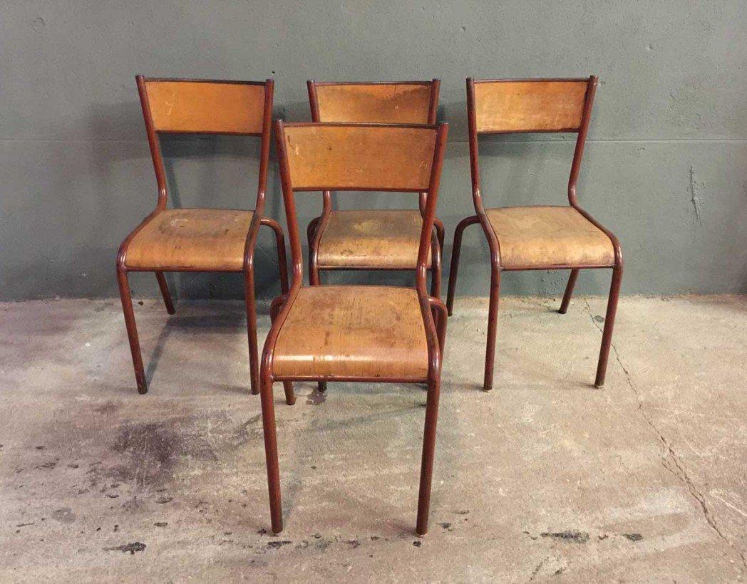 ensemble-4-chaises-ecole-vintage-rouge-mullca-5francs-2