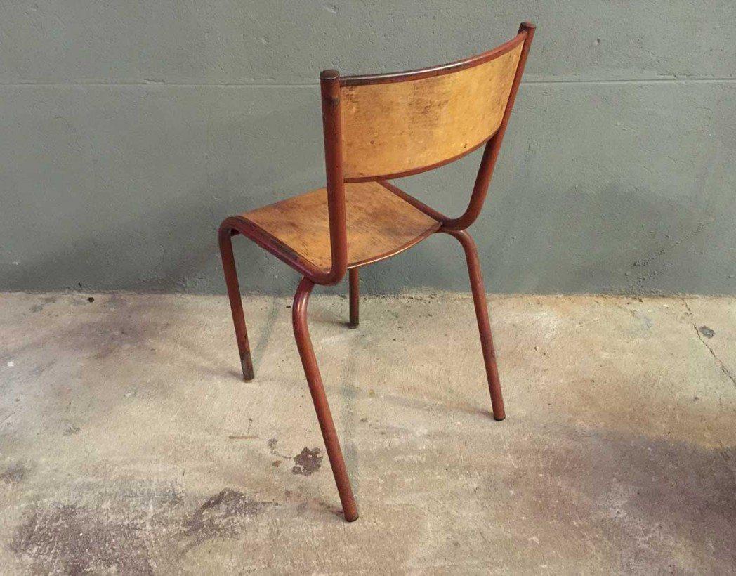 ensemble-4-chaises-ecole-vintage-rouge-mullca-5francs-4