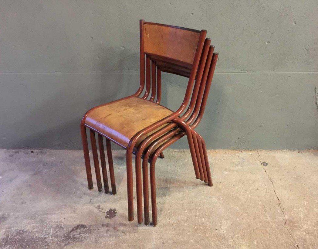 ensemble-4-chaises-ecole-vintage-rouge-mullca-5francs-6