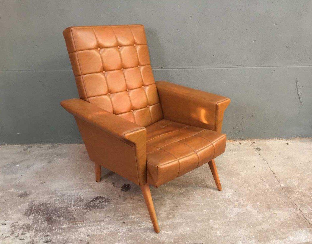 fauteuil vintage pied compas. Black Bedroom Furniture Sets. Home Design Ideas