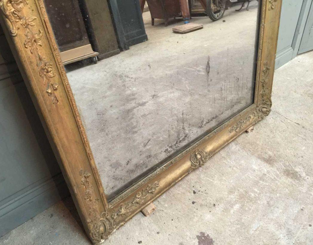 Grand miroir poque restauration for Restauration miroir