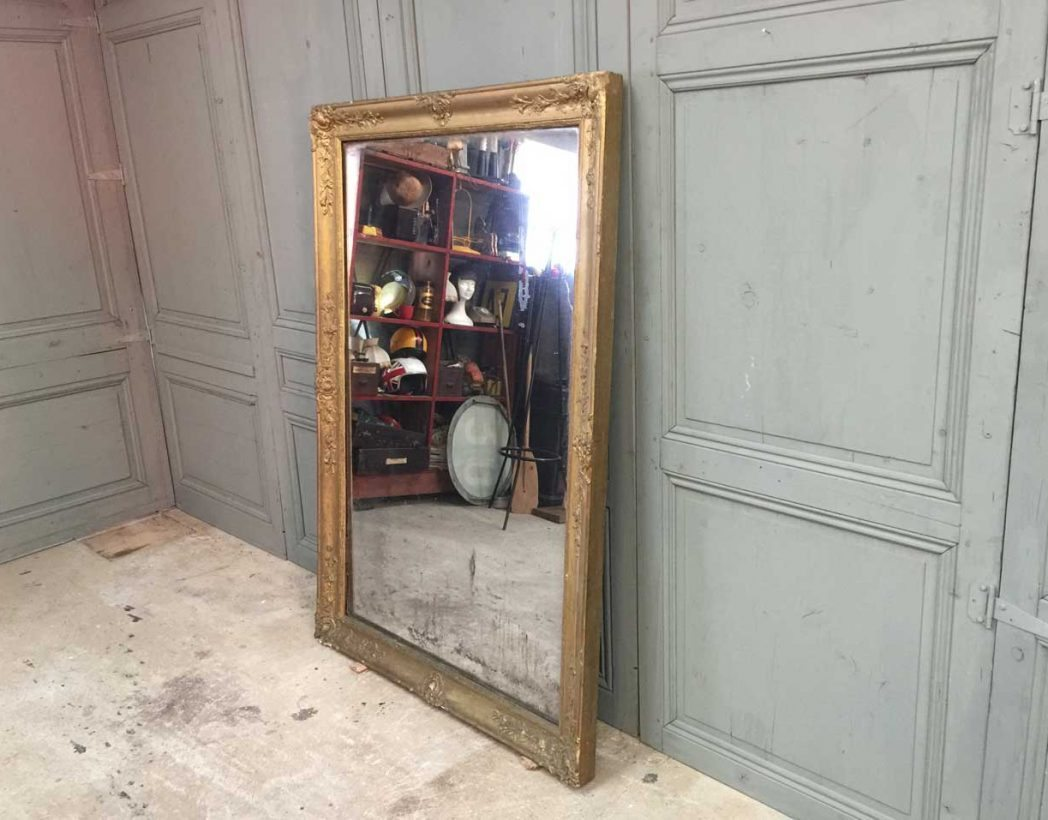 grand miroir poque restauration. Black Bedroom Furniture Sets. Home Design Ideas