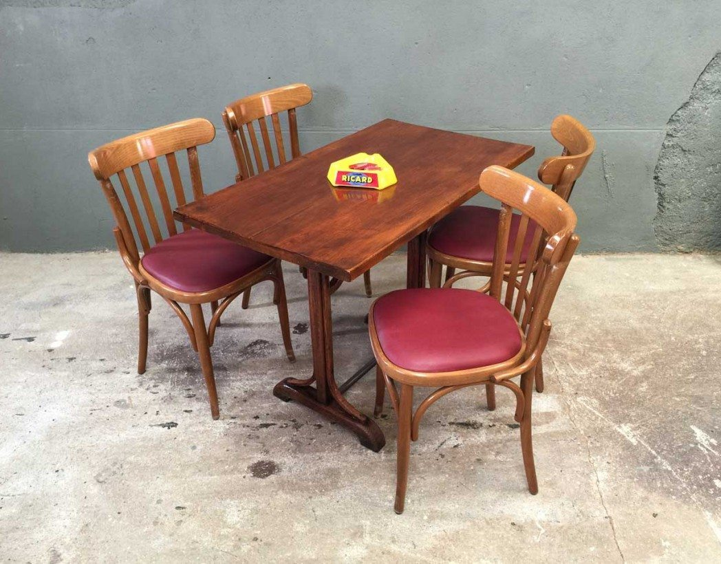 ensemble 8 chaises bistrot style baumann. Black Bedroom Furniture Sets. Home Design Ideas