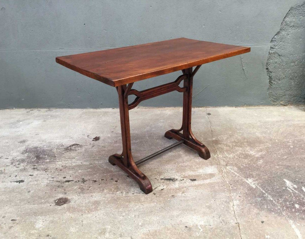 V ritable table de bistrot 1 - Table de bistrot ancienne ...