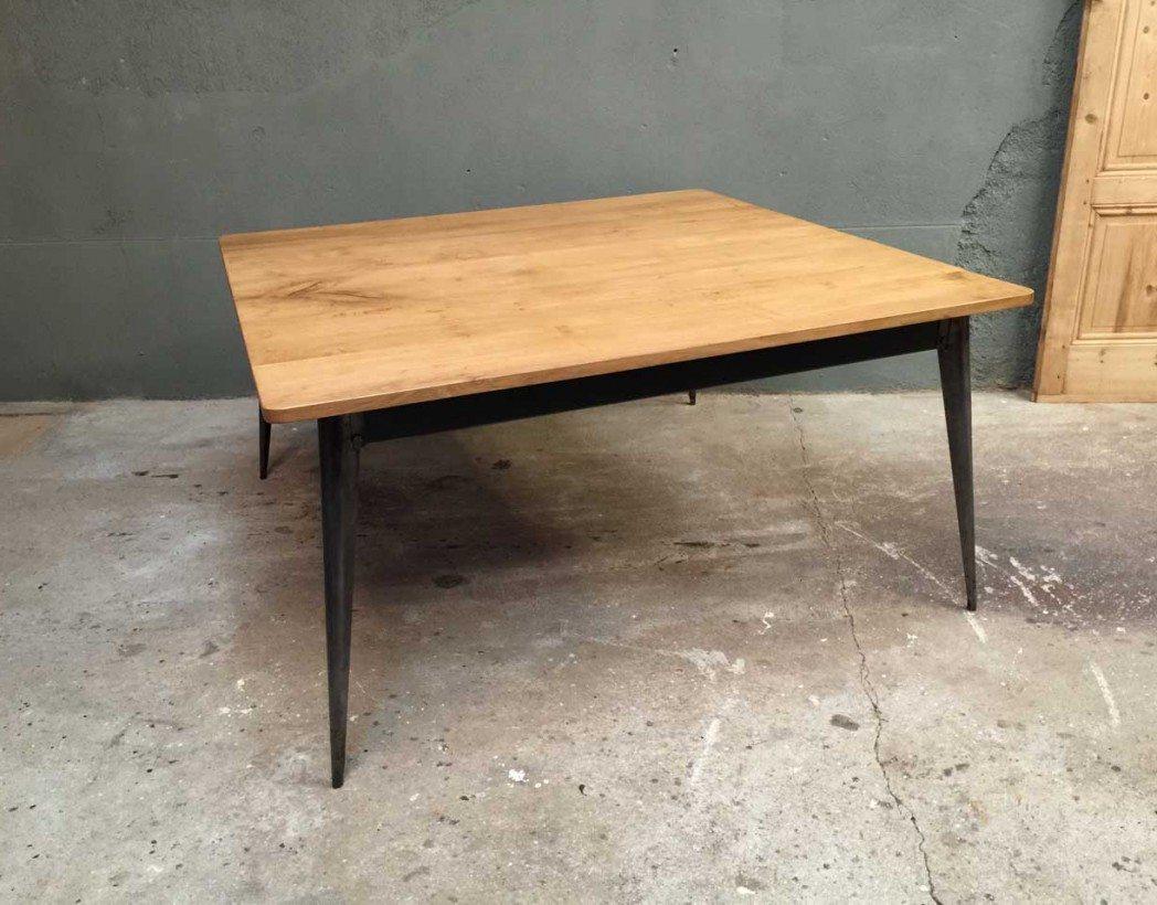 table-industrielle-caree-tolix-bois-metal-creation-5francs-2