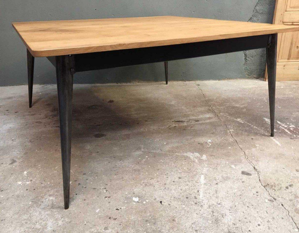 table-industrielle-caree-tolix-bois-metal-creation-5francs-3
