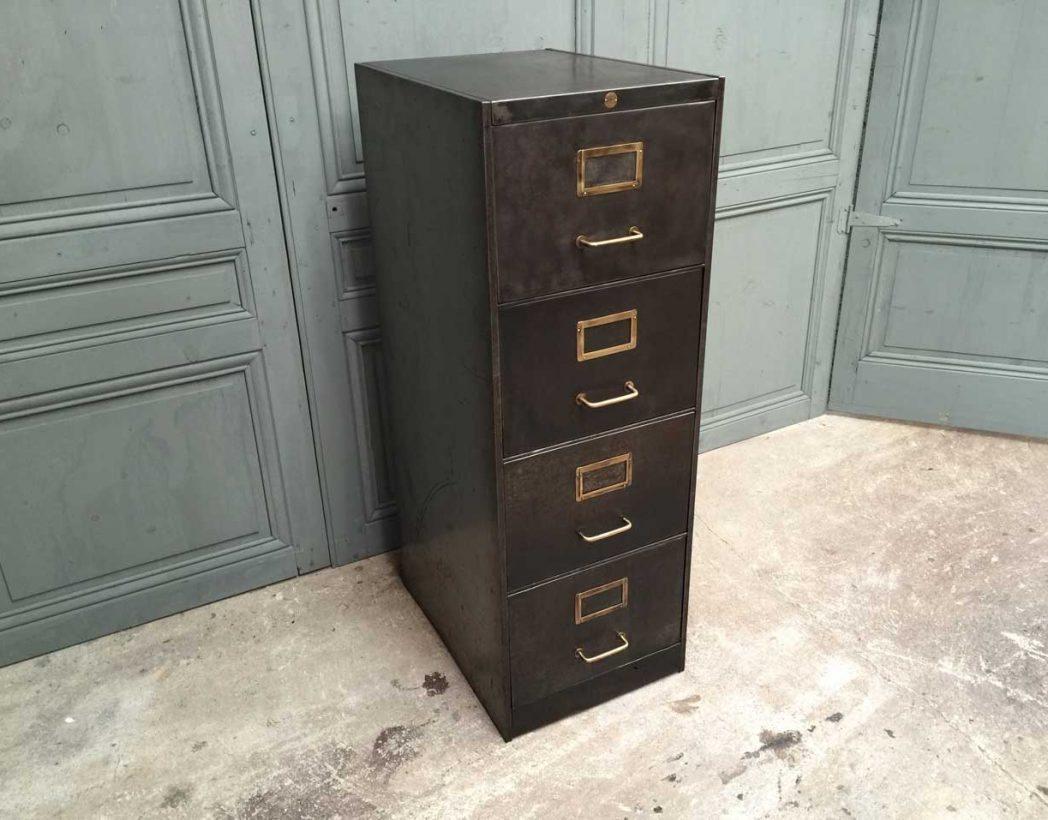 ancien casier 4 tiroirs ron o. Black Bedroom Furniture Sets. Home Design Ideas