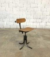ancienne chaise bienaise pied tulipe mobilier industriel 5francs 1 172x198 - Authentique chaise d'atelier Bienaise pied tulipe hauteur 55 cm