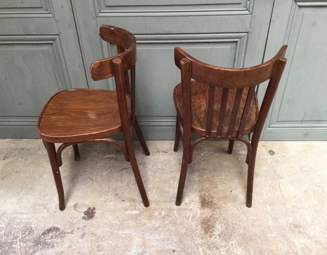 Ensemble de 16 chaises bistrot vintage - Chaise bistrot ancienne baumann ...