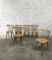 chaise bistrot style taapiovara scandinave vintage 5francs 1 172x198 - Ensemble de 6 chaises Baumann clair style Tapiovaraa
