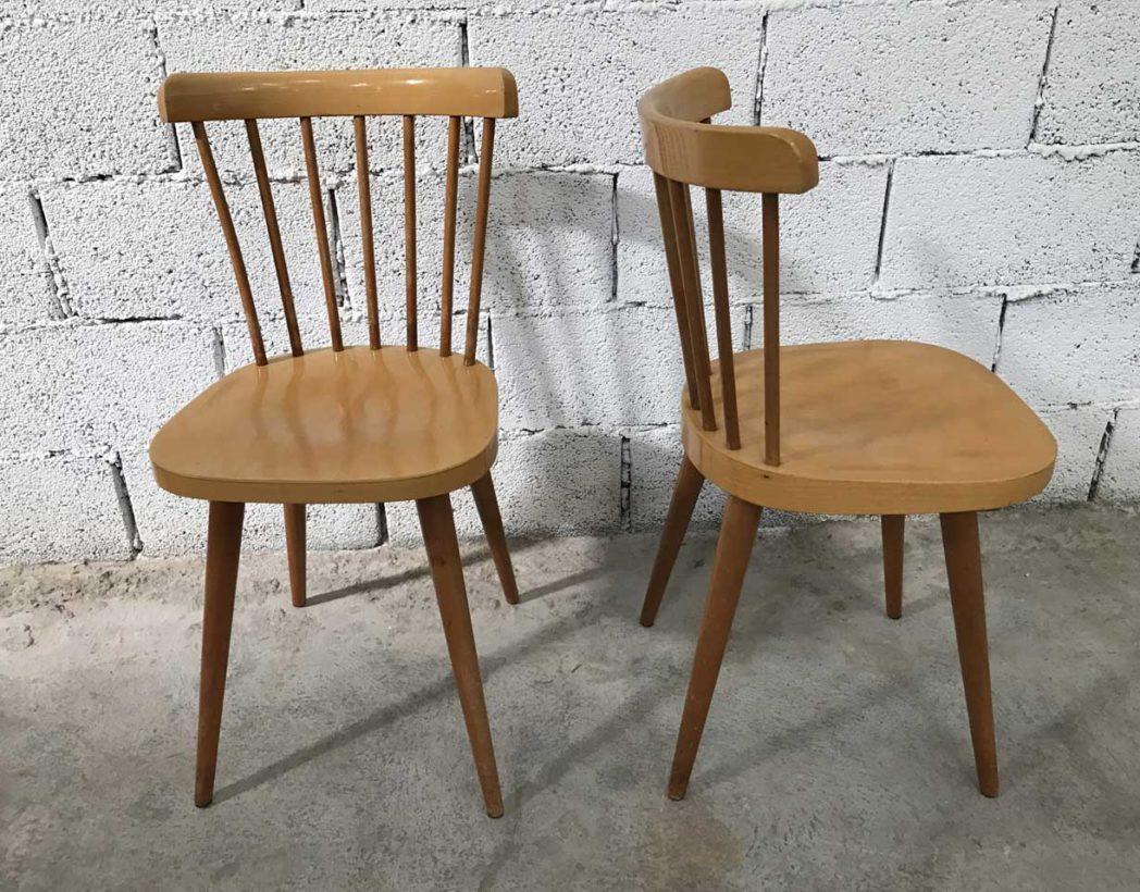 Ensemble de 6 chaises baumann clair style tapiovaraa for Barreau de chaise