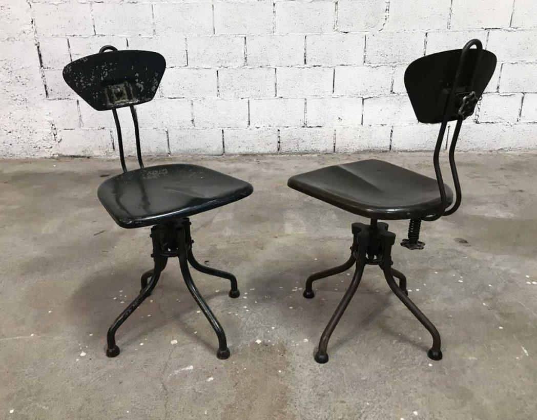 V ritable chaises flambo 1930 vert et kaki for Chaise 1930