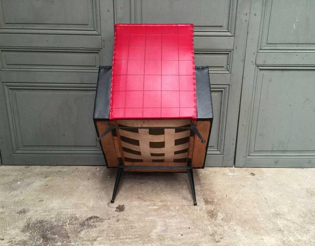 fauteuil-vintage-retro-rouge-et-noir-5francs-6
