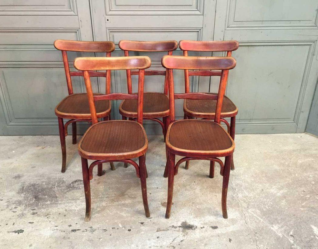Ensemble de 16 chaises bistrot fishel for Chaises bistrot anciennes