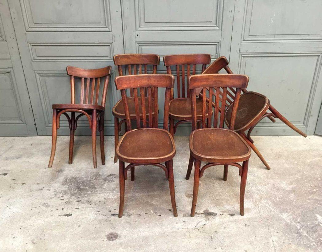 ensemble 6 chaises baumann crocodile. Black Bedroom Furniture Sets. Home Design Ideas