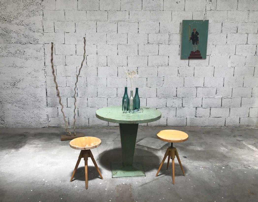 table-tolix-kub-vert-eau-ronde-metal-xavier-pauchard-5francs-7