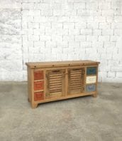 enfilade meuble salle de bain creation persienne industrielle 5francs 1 1 172x198 - Enfilade / buffet industriel persiennes anciennes et casiers en métal