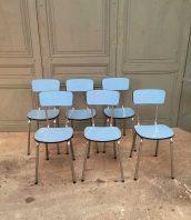 ensemble-chaise-formica-bleues-annee-vintage60-5francs-1