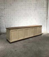 ancienne grande banque quicaillerie bois meuble de metier 5francs 1 172x198 - Ancienne grand banque de magasin patine d'origine