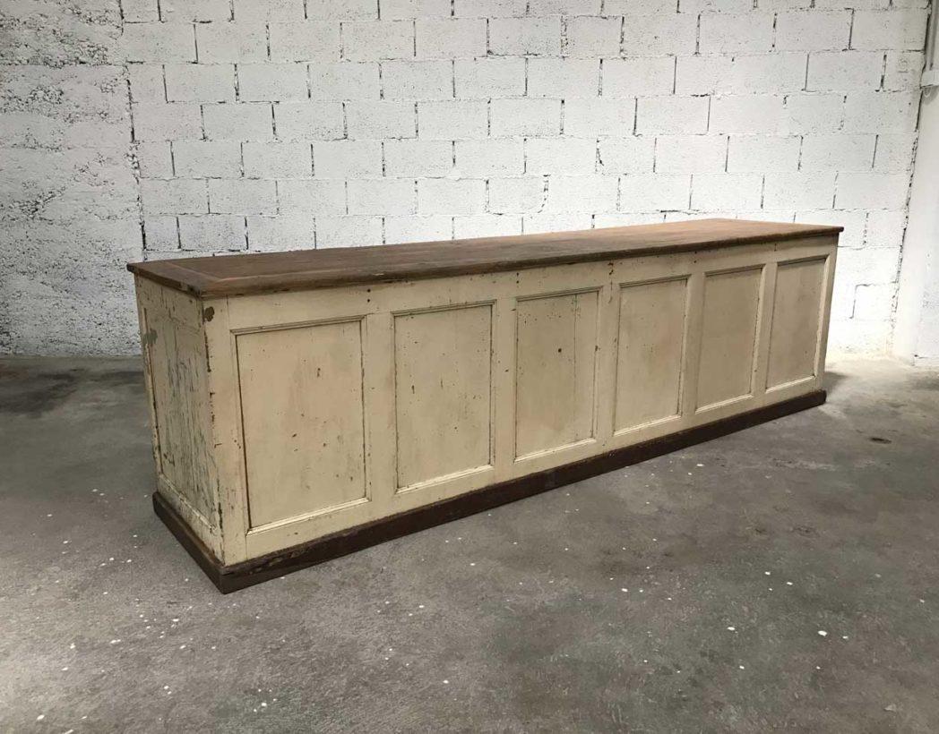 ancienne grand banque de magasin patine d 39 origine. Black Bedroom Furniture Sets. Home Design Ideas