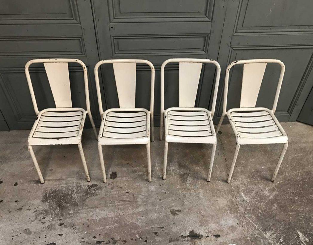 Ensemble 4 tolix t4 cr me - Chaise tolix vintage ...