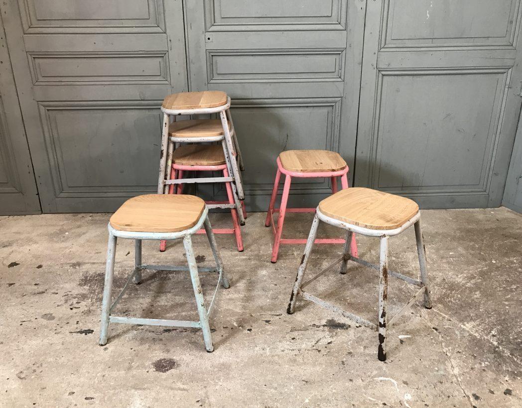 ensemble-tabouret-ecole-patine-5francs-2