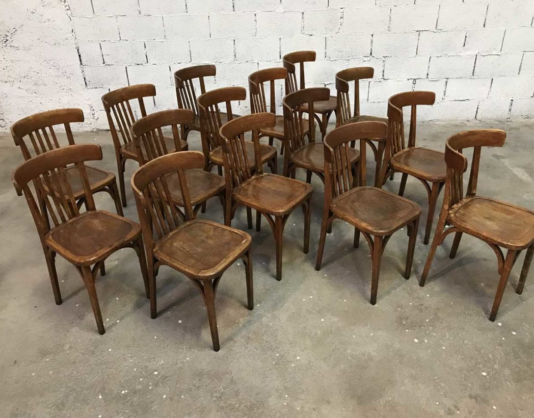 Ensemble 19 chaises bistrot baumann for Chaise bistrot baumann prix