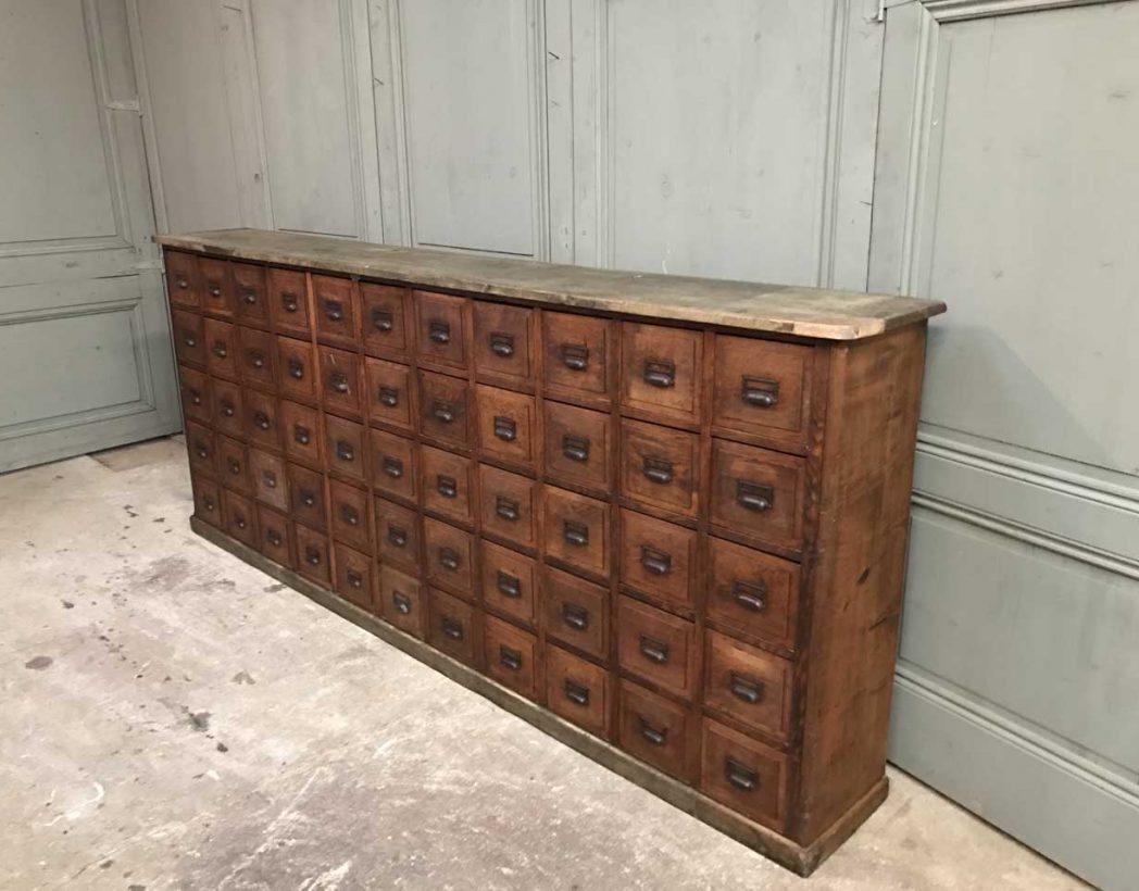Ancien grand meuble de m tiers 55 tiroirs for Meuble a tiroir ancien