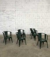 ancien fauteuil tolix d vintage pauchard 5francs 1 1 172x198 - Plusieurs véritables fauteuils TOLIX modèle D patine verte année 50